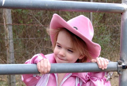 Sweet little Cowgirl Ellie.