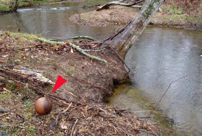 Ball by creek.