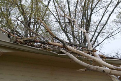 Damaged Rain Gutter