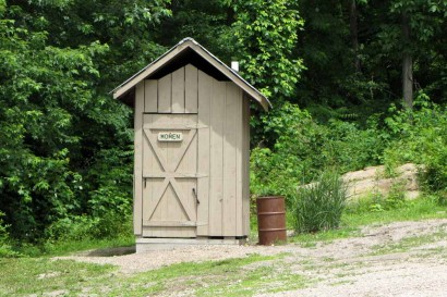 Outhouse at Stone House Museum