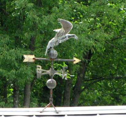 Weathervane at Stone House Museum