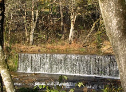 Dam and Falls on Factory Creek in Belvidere, Tennessee.