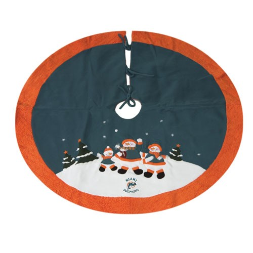 Aqua Christmas Tree Skirt: Best Football Fans Gift Ideas
