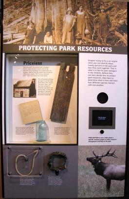 elk storyboard at Oconaluftee Visitor Center picture