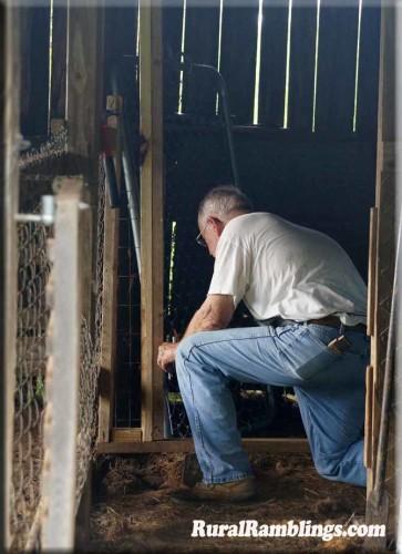 Farmer Working on Gate