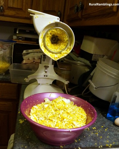Shredding Eggs