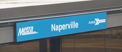 pic of Amtrak Naperville sign